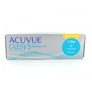 Acuvue Oasys 1 Day with HydraLuxe for Astigmatism, 30er Box (+ Werte und ab - 6,5 bis - 9,0)