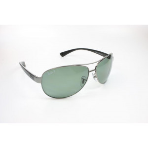 Ray Ban - RB3386 004/9A Gr. 67 L - Gunmetal/POLARIZED Green